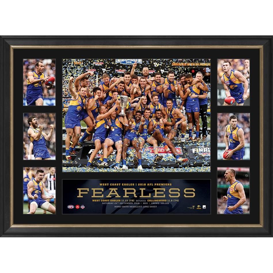 West Coast Eagles 2018 AFL Premiers Tribute Frame0
