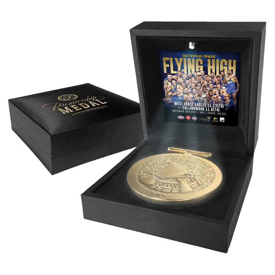 West Coast Eagles 2018 AFL Premiers Medal Display0