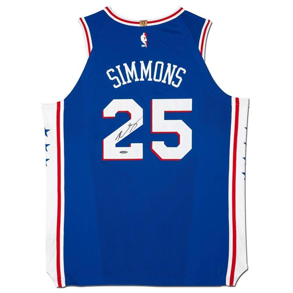 Ben Simmons Signed 76ers Away Nike Jersey0