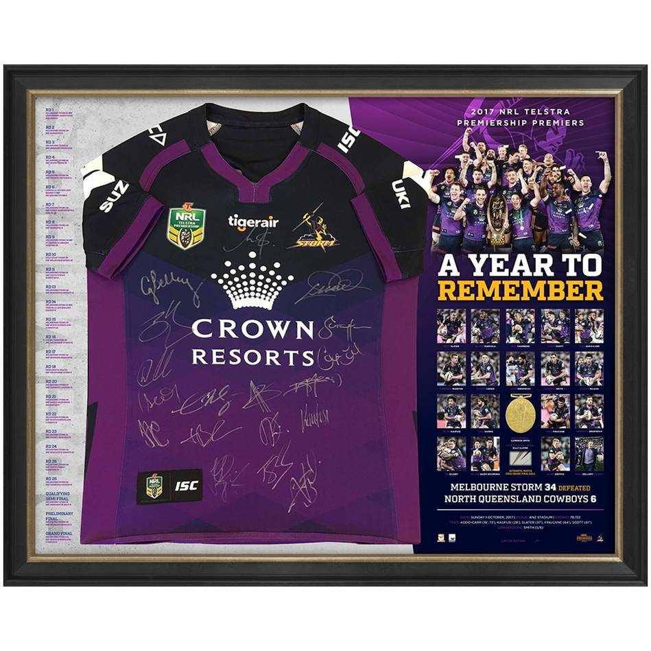EDITION #1 – Melbourne Storm 2017 Premiers Team Signed 'A Year to Remember'0