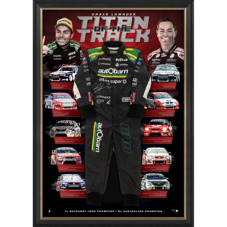 EDITION #1 – Craig Lowndes Signed 'Titan of the Track'0