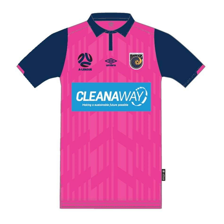 Matthew Hatch #25 Central Coast Mariners 2021 Signed Player-Issue Pink Jersey0