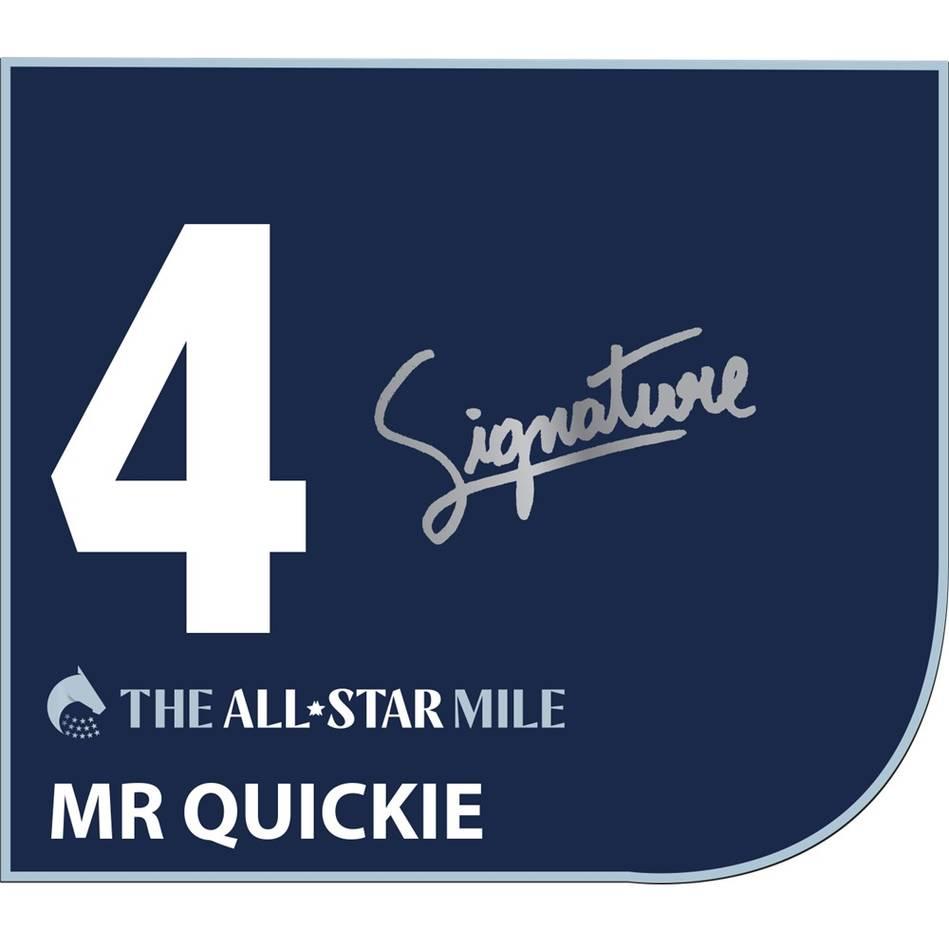 Mr Quickie – Jamie Kah Signed Saddlecloth0