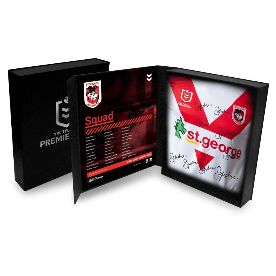 St George Illawarra Dragons 2021 Squad Signed Jersey0