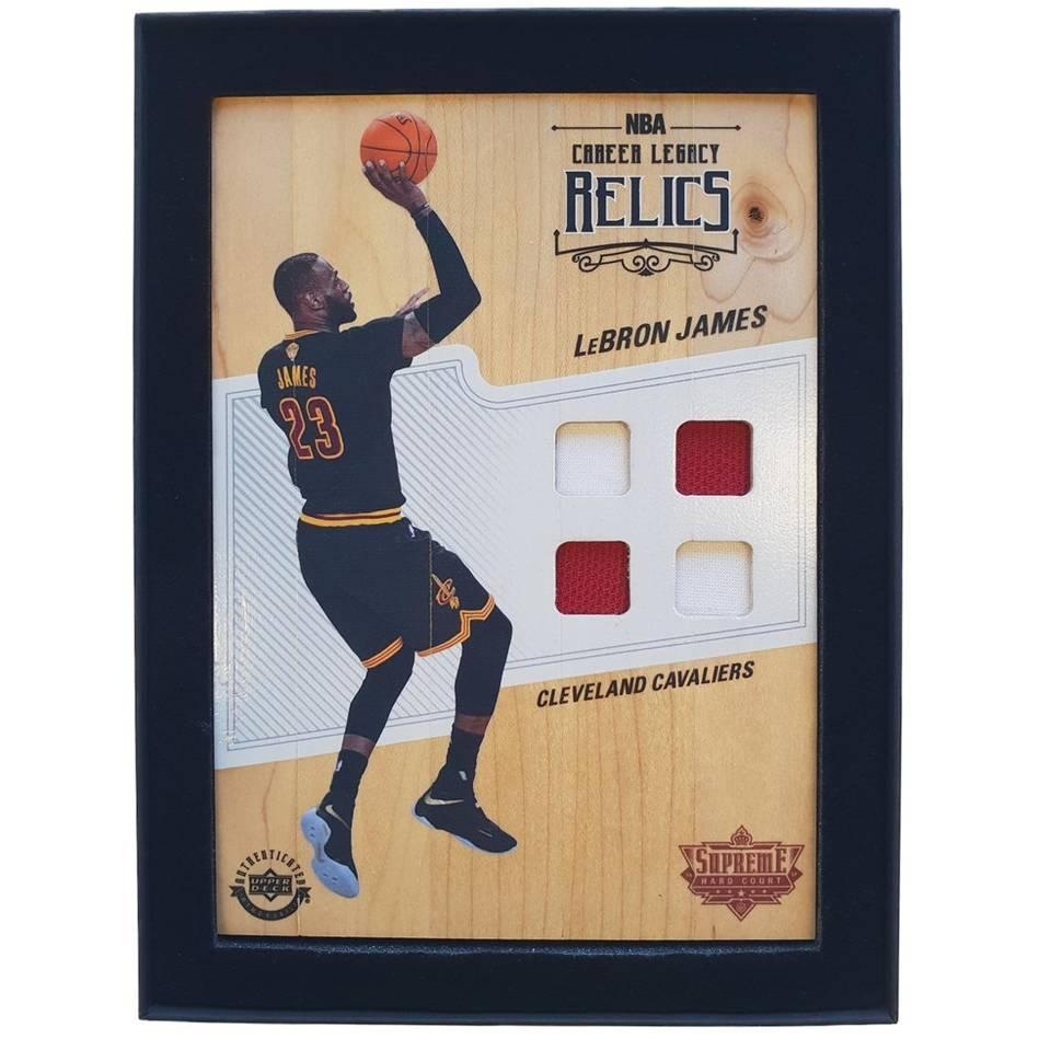 LeBron James NBA Supreme Hard Court Career Legacy Relics Piece0