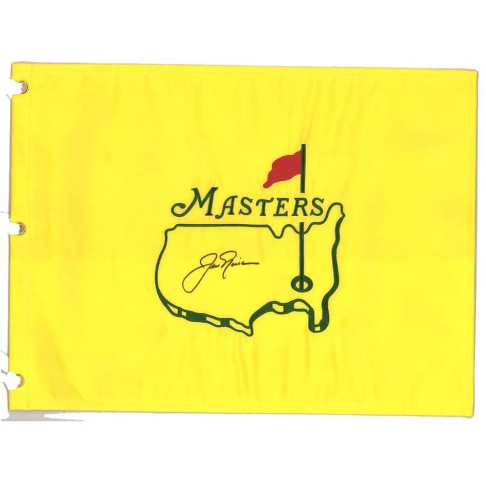 Jack Nicklaus Signed Masters Flag0