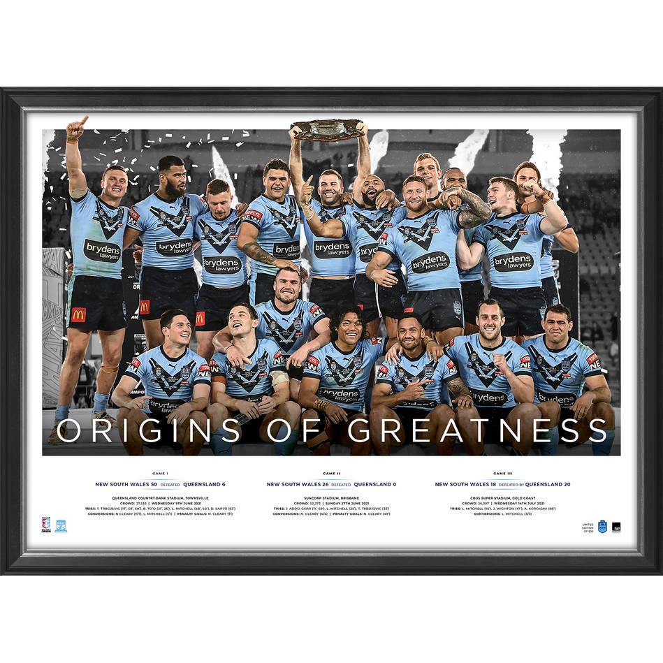 NSW Blues 2021 State of Origin Champions Sportsprint0