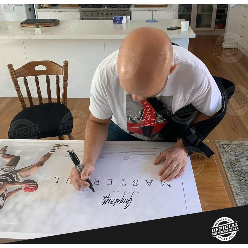 EDITION # 357 Gary Abblett Jr Signed Career Retrospective Lithograph