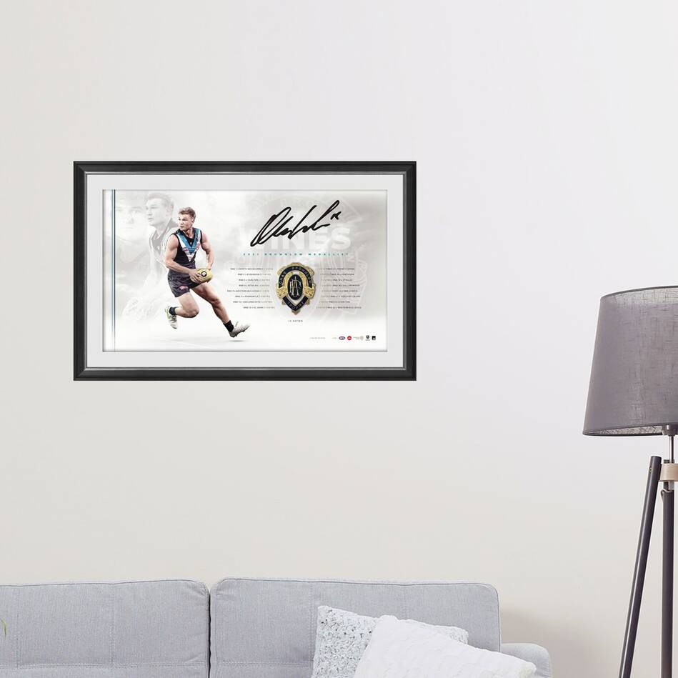 Ollie Wines Signed Brownlow Medal Lithograph1